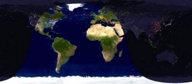 Screensaver com voos internacionais em tempo real