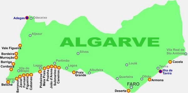 algarve mapa praias As melhores praias do Algarve | Mais Turismo algarve mapa praias