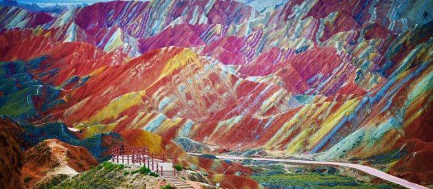 montanhas de cores